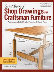 Shop Drawings for Craftsman Furniture by Robert W. Lang