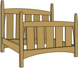 Plans for Harvey Ellis Bed
