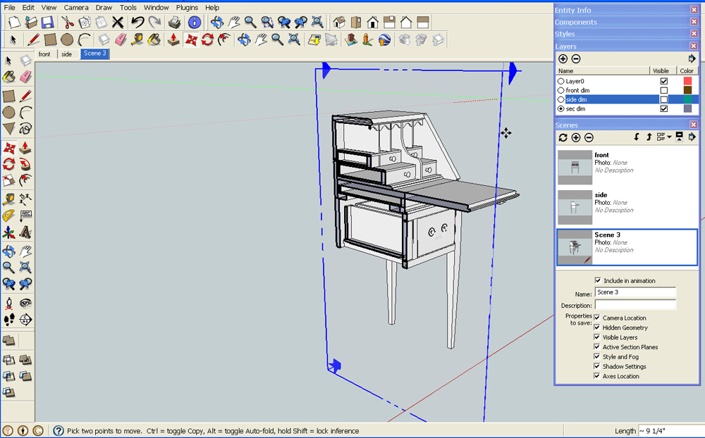 sections are easy-peasy in SketchUp