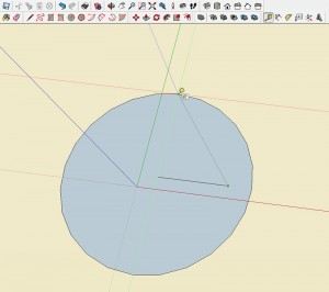 Step 1 Pythagorean Theorem in SketchUp