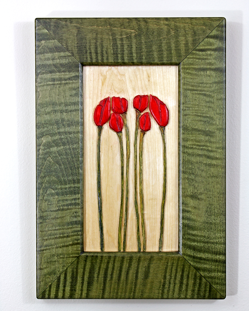 Tulip carving by Robert W. Lang
