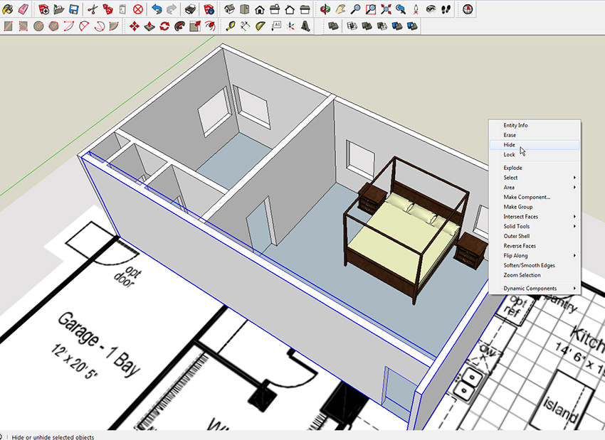 2 SketchUp Shortcuts – Now You See It, Now You Don'tReadWatchDo com