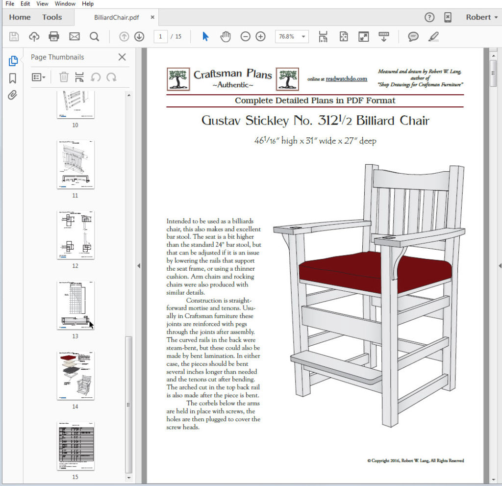 Great Book Of Shop Drawings For Craftsman Furniture Pdf