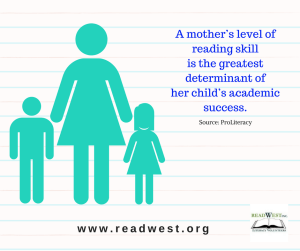 A mother's level of reading skill is the greatest determinant of her child's academic success.