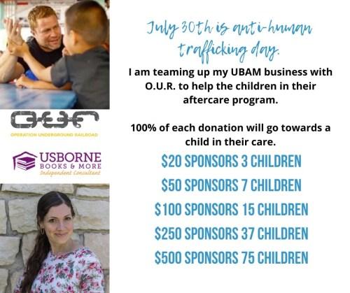 Sponsoring Children in O.U.R. Aftercare