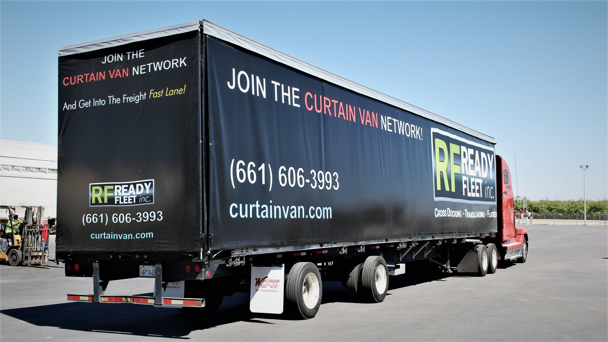 curtain van curtainside trailer services in central california