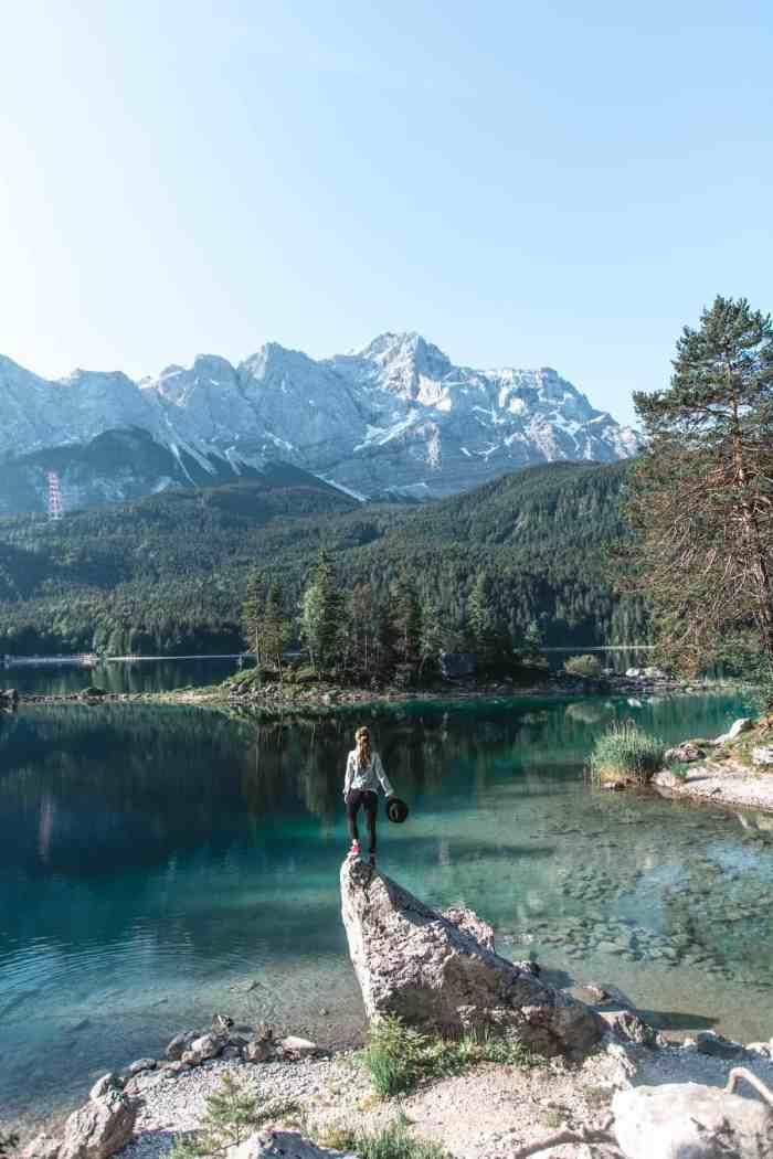 Best photo spots of Lake Eibsee