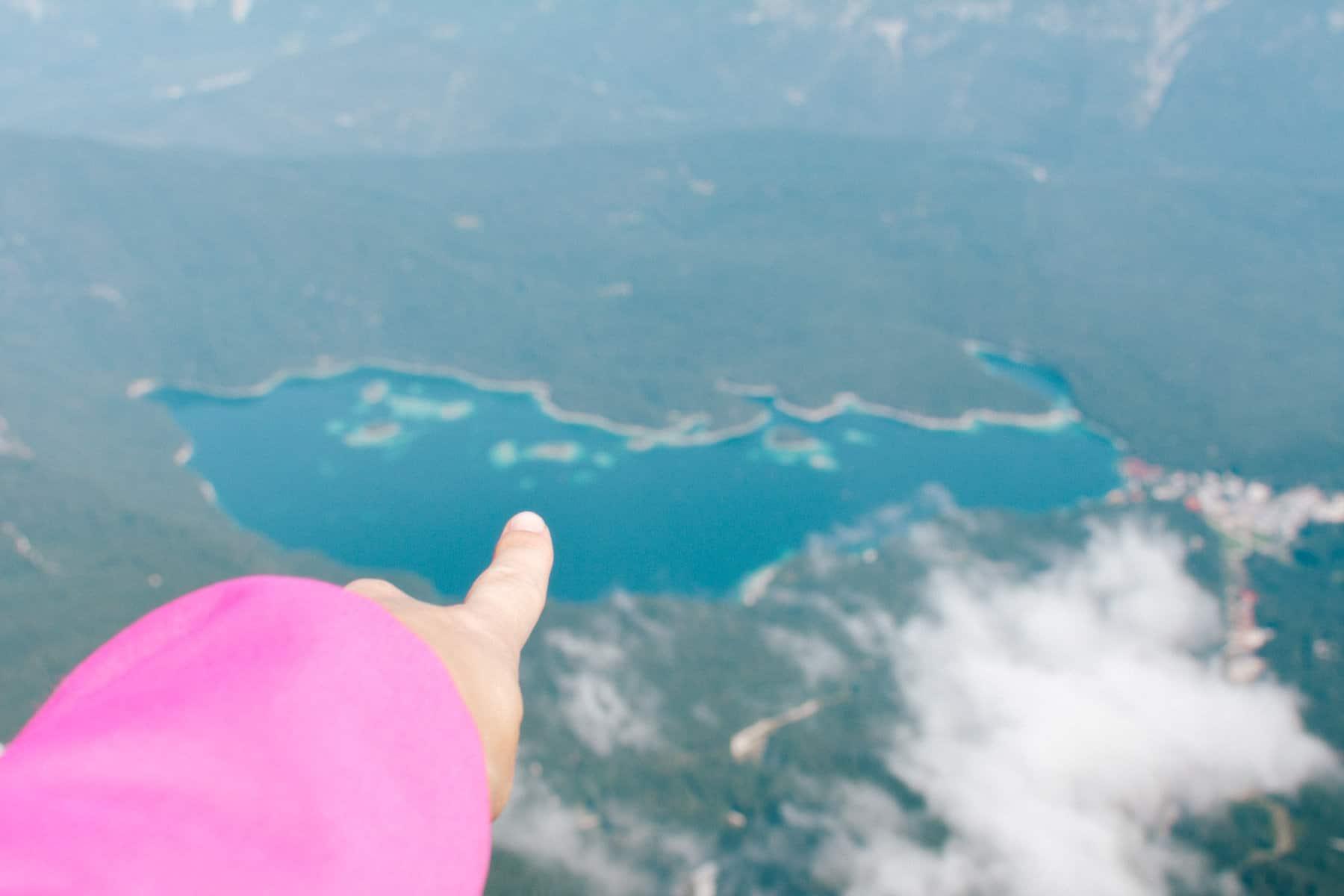 Blick von Zugspitze auf Eibsee