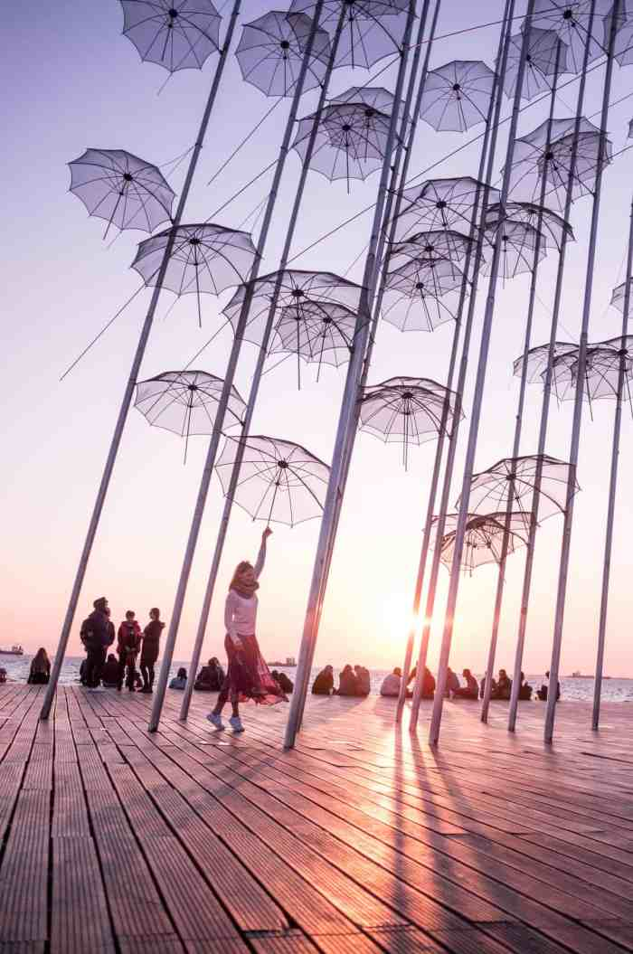 Things to do in Thessaloniki, umbrellas