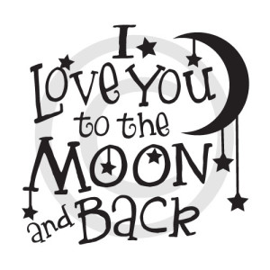 Download I love you to the Moon and back download vector download ...