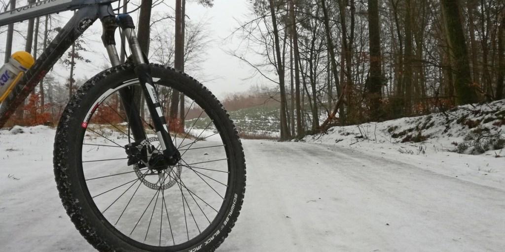 zima rowerem