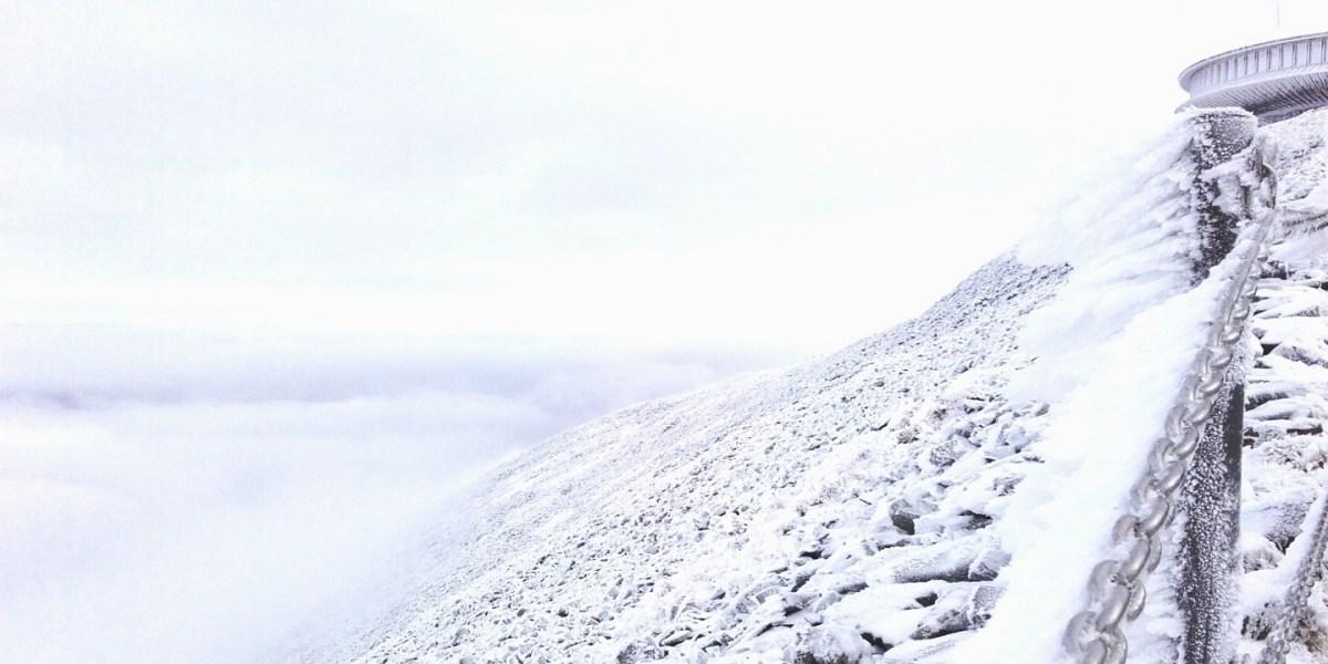 Śnieżka - najwyższy szczyt Czech czyli chmury, chmury i mgła