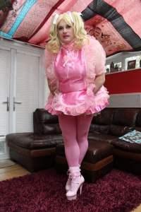 Kimberly Satin  Sissy Dress