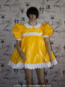 Sissy Baby Doll Dress Yellow PVC by Ready2Role JAN17