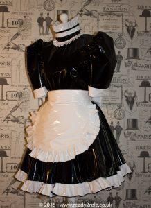 Hi Alice PVC Maids Dress With Half Apron 1