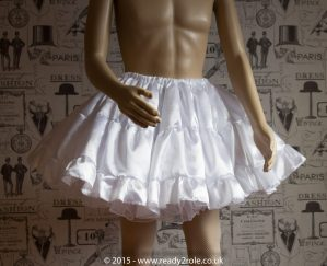Candy Cupcake Corseted Sissy (Black & White) Satin Dress 6