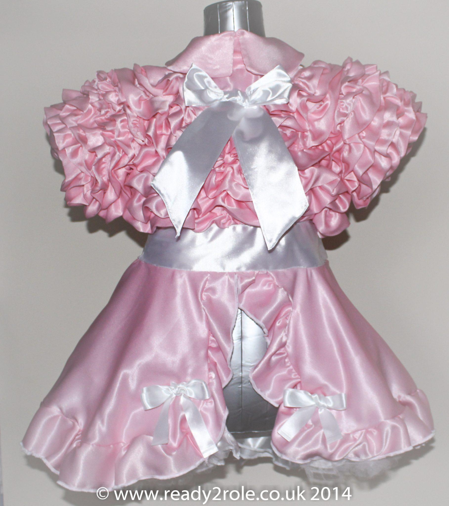 Bow Peek Sissy Ruffle Dress – Pink Version 0