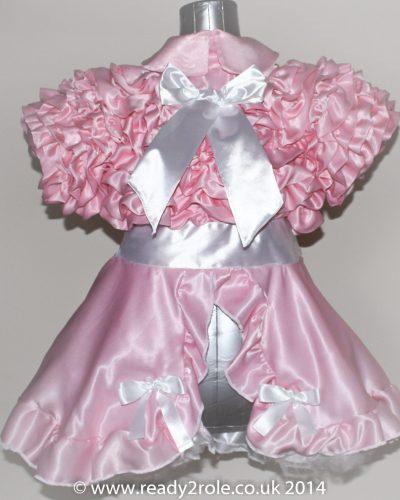 Bow Peek Sissy Ruffle Dress – Pink Version 0 1