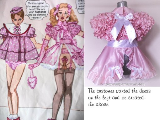 Bow Peek Sissy Ruffle Dress – Pink Version 0 3