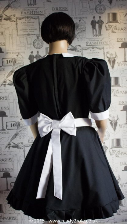 FPJ Maid to Serve – Cotton Sissy Maid Dress With Half Apron 2