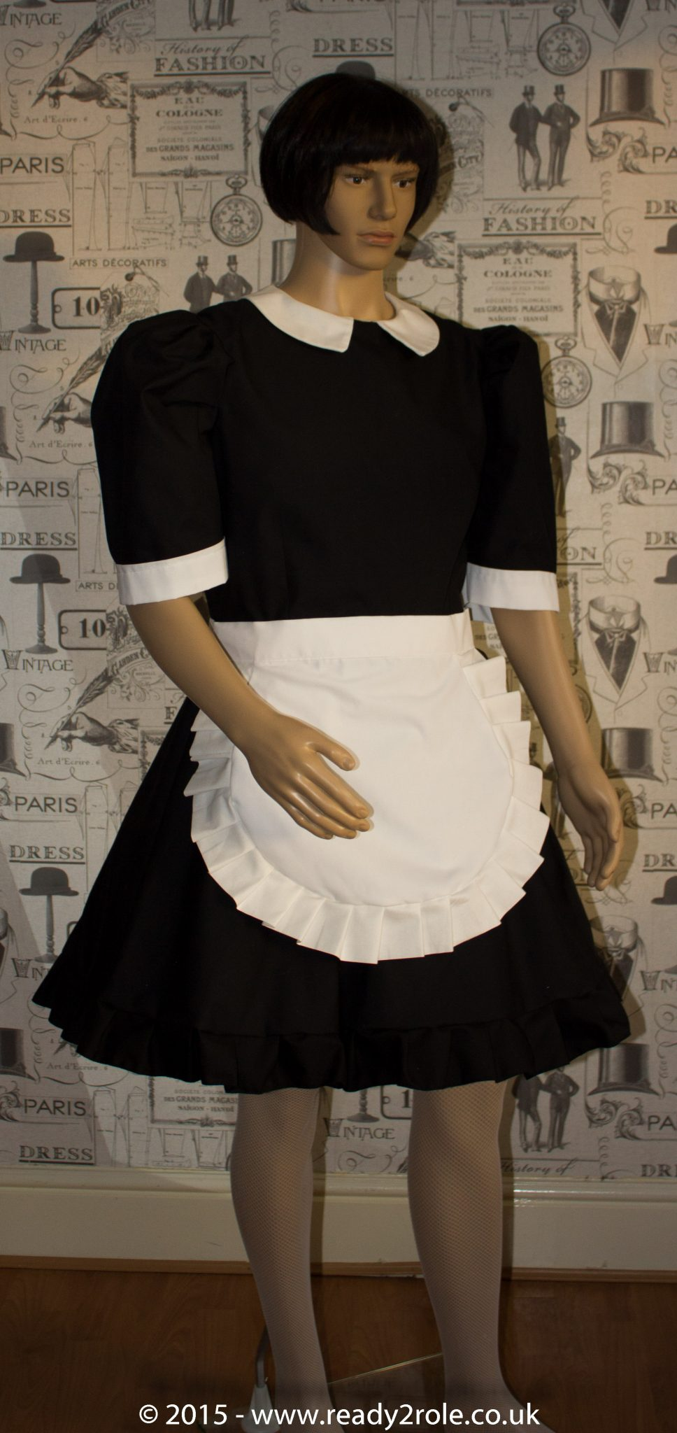 FPJ Maid to Serve – Cotton Sissy Maid Dress With Half Apron