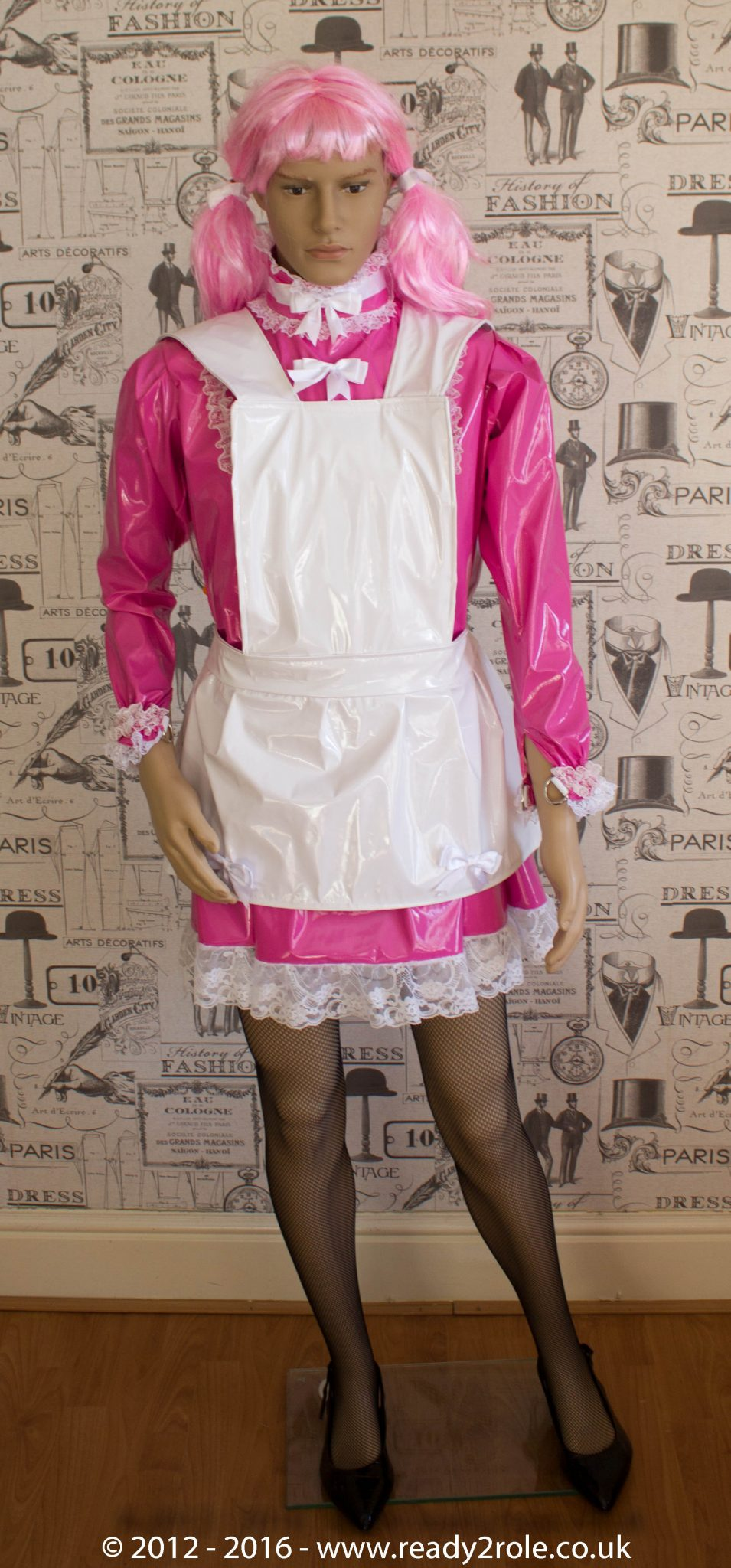 """The """"Fleur"""" PVC Dress With Apron – Ask About Colour, Fabric and/or locking Options"""