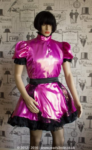 Nawty Shorty – Satin Dress with half apron 1