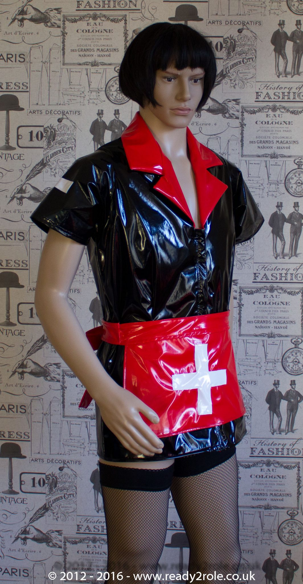 Tulsa PVC Nurse Dress – Made Here in Black & Red – Ask About Other Colour Options