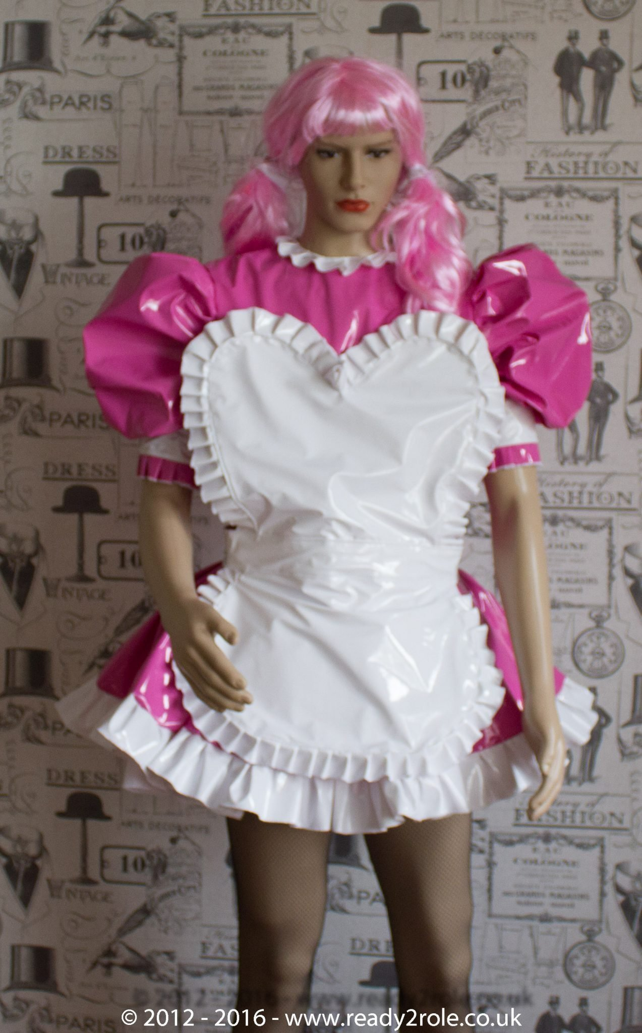 Sweetheart Sissy PVC Maids Dress – Hidden Attractive Qualities…Pink & White