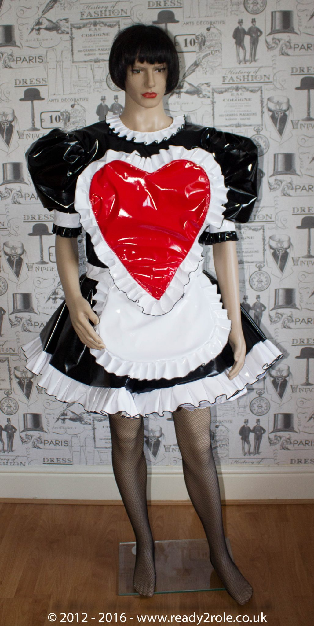 """The """"Sweetheart"""" Sissy Dress With Interchangeable Apron Sections"""