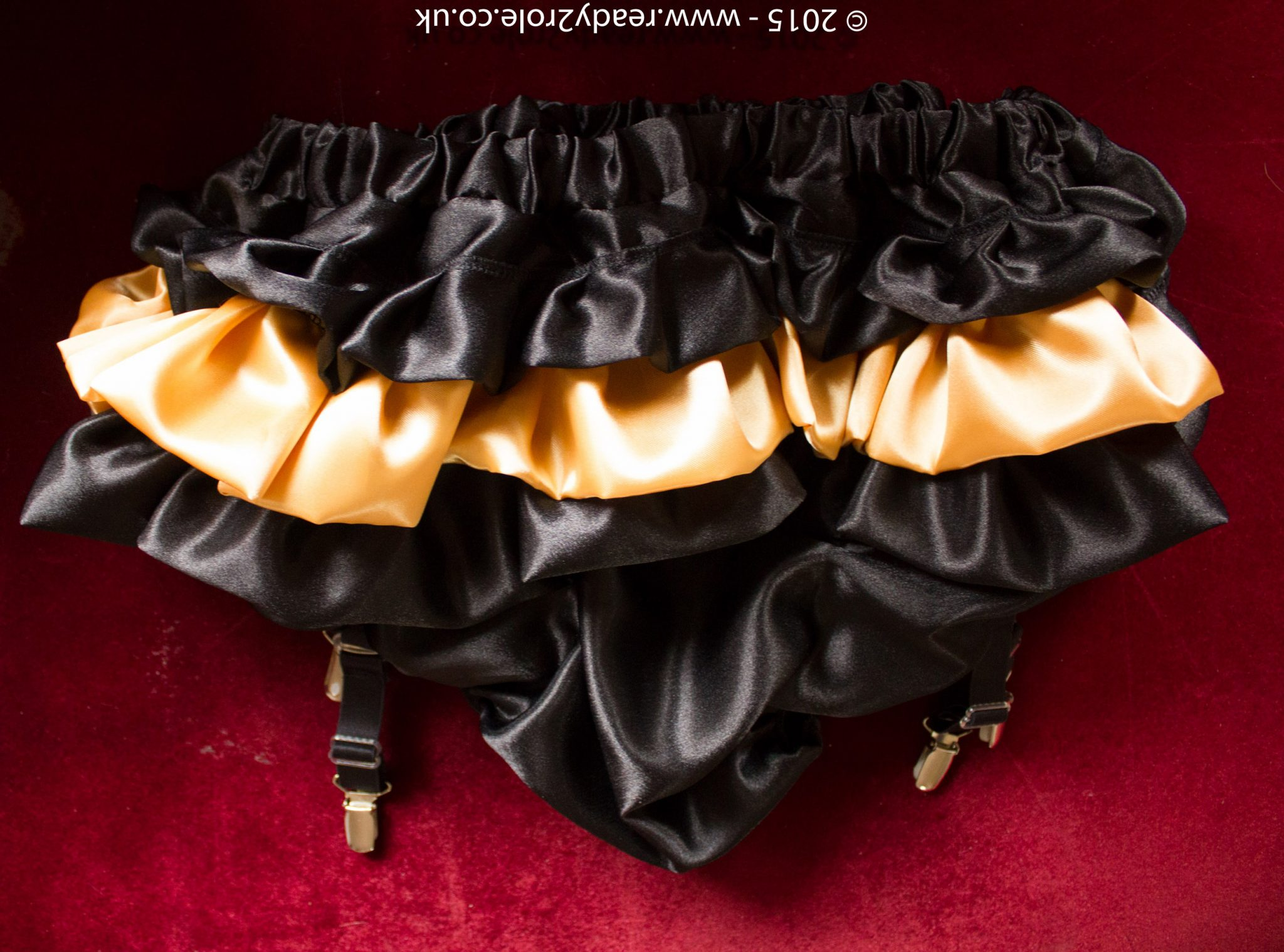 Sissy Satin Panties With Suspender Clips