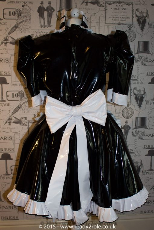 Hi Alice PVC Maids Dress With Half Apron 2