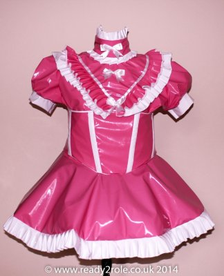 Sissy Candy Cupcake (Pink) PVC Dress With Boned Corset 1