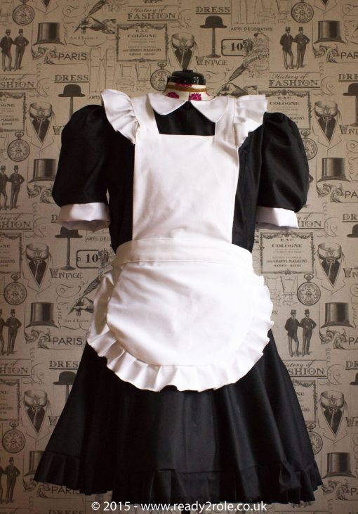 FPJ Full Service Cotton Sissy Maids Dress With Full Apron 4