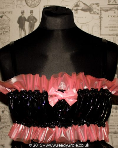 "The ""K"" Bra, PVC with Vinyl Ruffles 1"