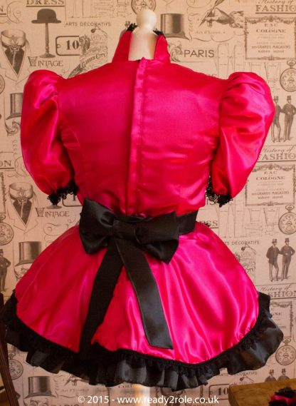 Nawty Shorty in Cerise Satin 3