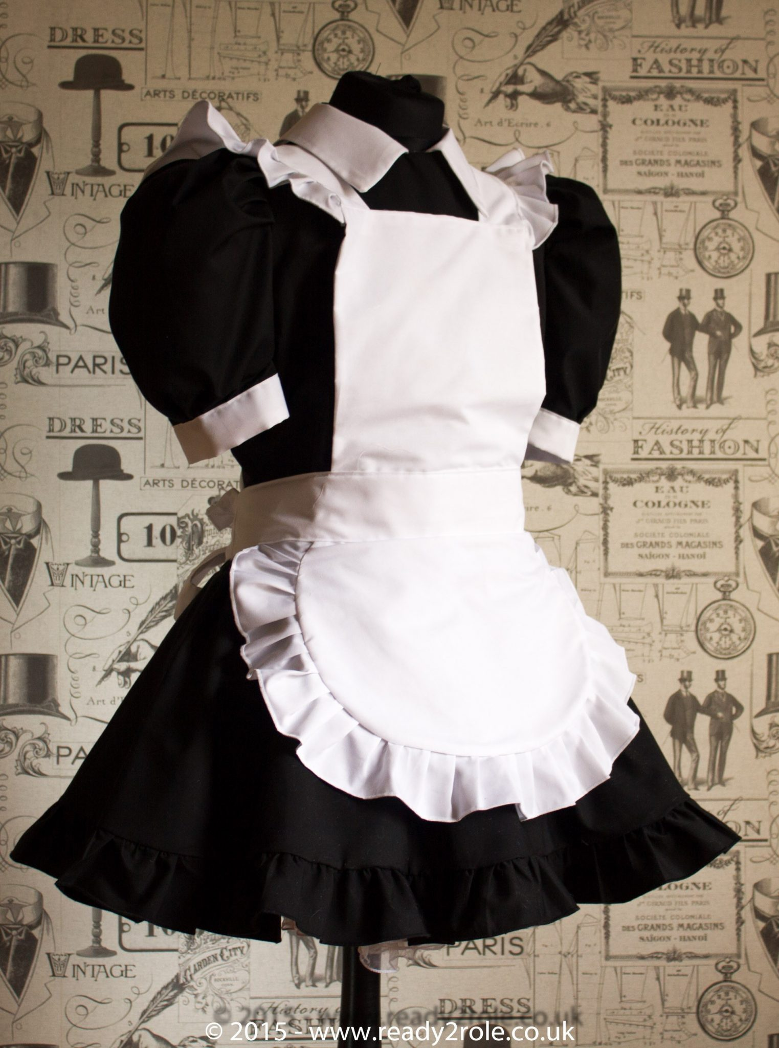 FPJ Full Service Cotton Sissy Maids Dress With Full Apron