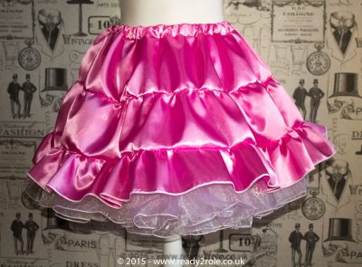 Sissy Frilly Hand Crafted Petticoat (Pink) – Above Knee Length 1