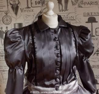 Victoria – Sissy Satin Long Sleeved Dress 1