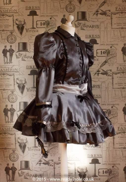 Victoria – Sissy Satin Long Sleeved Dress 3