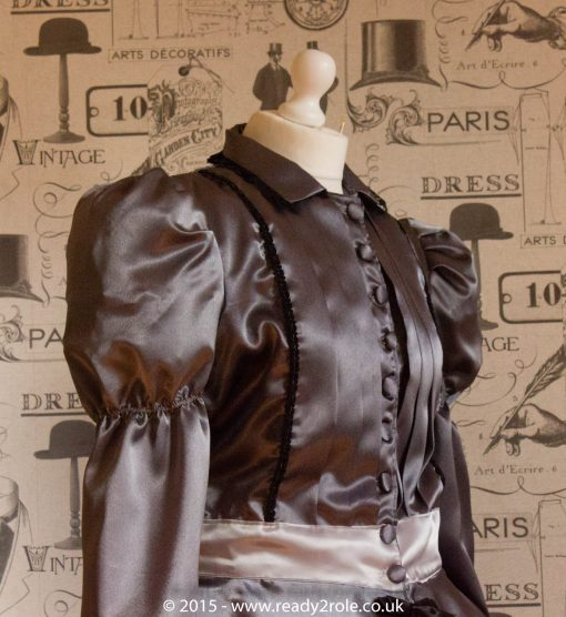 Victoria – Sissy Satin Long Sleeved Dress 4