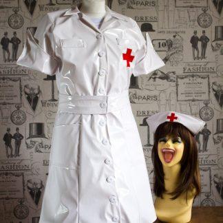 PVC Vintage Nurse Dress 1