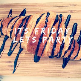 It's Friday. The last day of the school hols for some. We have inset day on Monday so we have an extra day. I've lots to do today - first on the list - Tea & breakfast #croissant #friday #fridayparty #blogger #breakfast