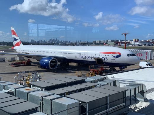 British Airways Sydney to Singapore
