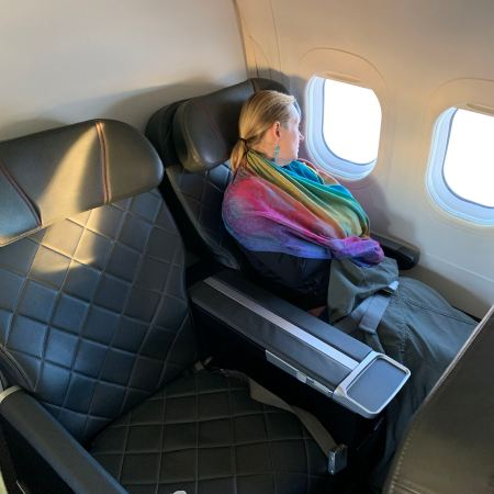 Qantas Business Class Hobart to Sydney