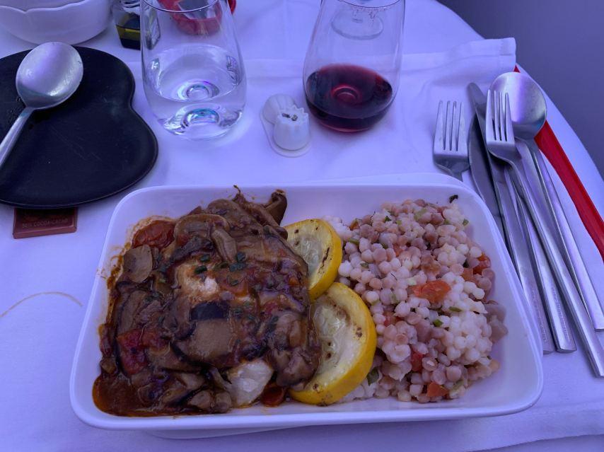 Hong Kong Airlines Business Class Meal