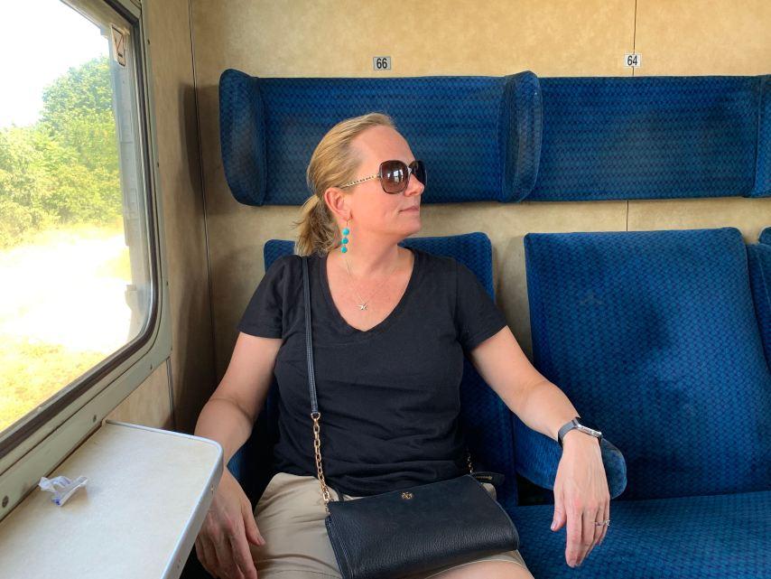 Bulgarian Train Compartment Seats