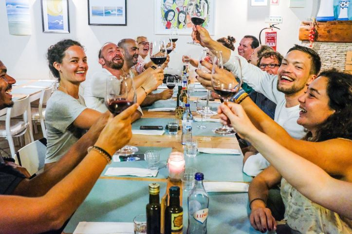 Restaurant dinner campervan caravan portugal Camper Retreats
