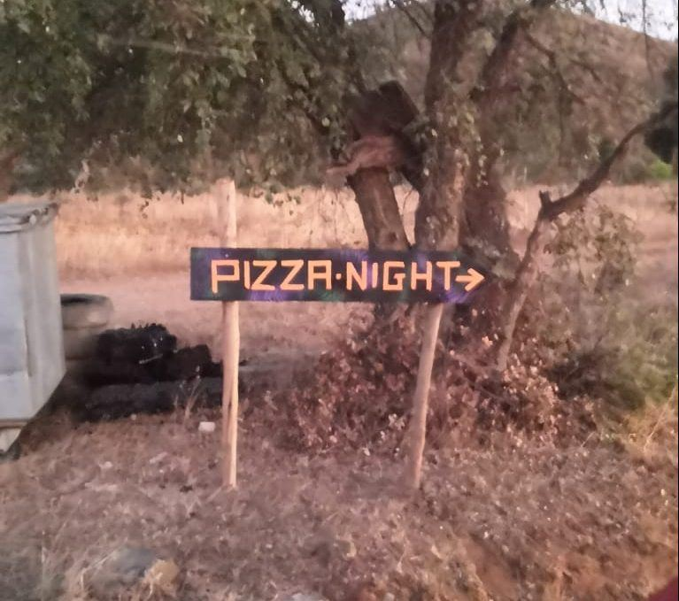 Algarve Friday Night Pizza Party Sign