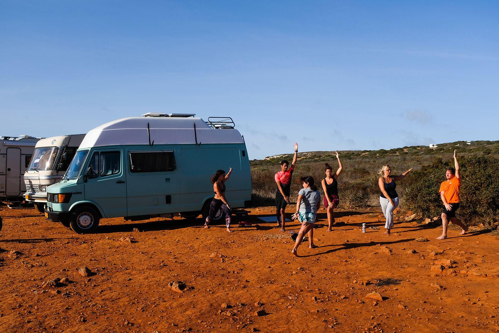 yoga campervan caravan portugal Camper Retreats